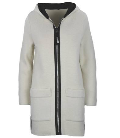 Elegancki długi płaszcz kurtka Alpaka PL