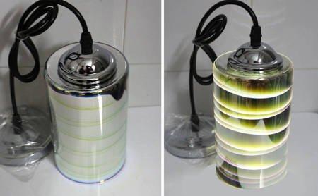LAMPA SUFITOWA 3DPremium SREBRNY WALEC