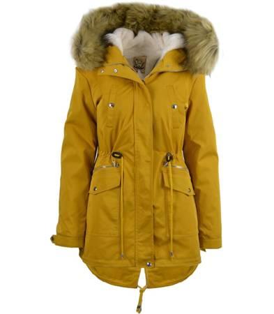 MEGA kurtka płaszcz parka zima 2w1 MIŚ