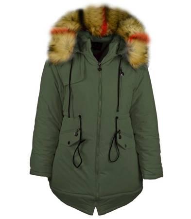 Modna mega ciepła kurtka zimowa parka UNI