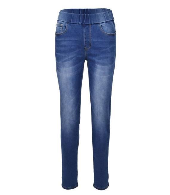 Modne spodnie jeansy dźeginsy SKINY