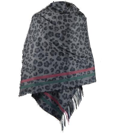 Modny duży damski szal