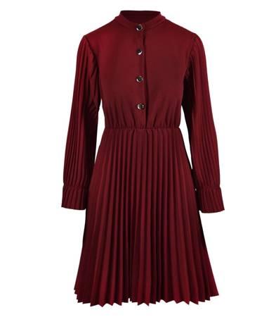 Piękna sukienka plisowana w stylu RETRO