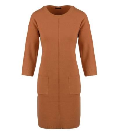 Stylowa sukienka kashmeerowa KIESZENIE