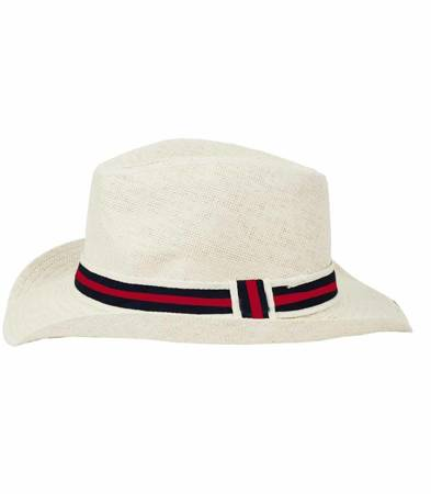 Stylowy męski kapelusz słomkowy country