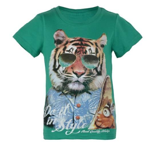 Super T-Shirt chłopięcy z tygrysem